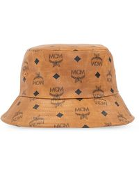 MCM Hat With Logo Unisex Brown