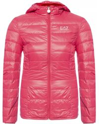 EA7 - Quilted Down Jacket With Logo - Lyst