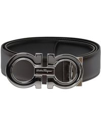 Ferragamo Reversible Leather Belt - Brown