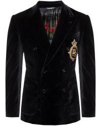 Dolce & Gabbana Velvet Blazer - Black