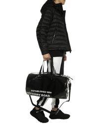 Burberry Logo Print Duffle Bag - Black