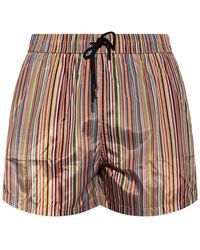 Paul Smith Swim Shorts With Stripes - Multicolour