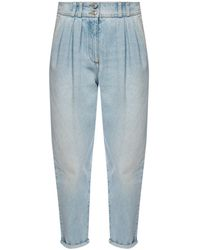 Balmain Ruched Jeans - Blue