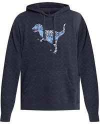 COACH Branded Hoodie - Blue