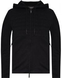 Emporio Armani Hoodie With Stitching - Black