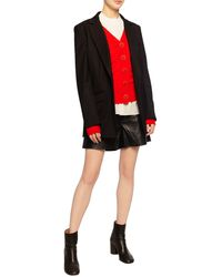 Tory Burch Simone Button-front Wool Cardigan - Red