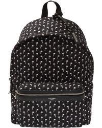 Saint Laurent 'city' Backpack With Logo - Black