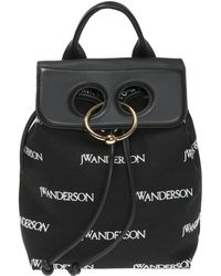 JW Anderson Logo-embroidered Backpack - Black