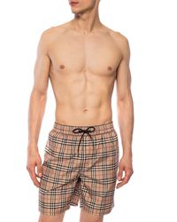 Burberry Check Swim Shorts Brown