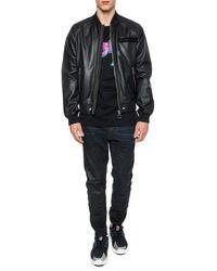 DIESEL Branded Bomber Jacket Black