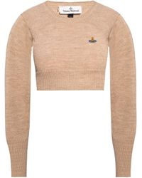 Vivienne Westwood Cropped Sweater - Natural