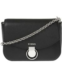 Versace - Shoulder Bag With Decorative Buckle - Lyst