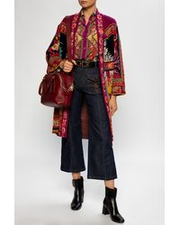 Etro Patterned Cardigan Multicolour - Red