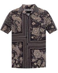 AllSaints 'ventura' Short Sleeve Shirt - Black