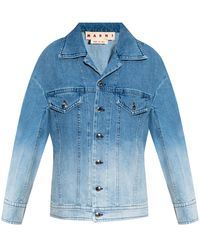 Marni Denim Jacket With Ombre - Blue