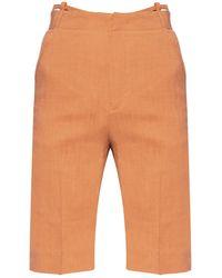 Jacquemus High-waisted Shorts Orange
