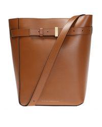 Victoria Beckham 'twin Bucket' Shoulder Bag Brown