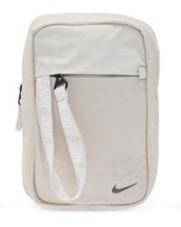Nike One-shoulder Backpack With Logo Beige - Natural
