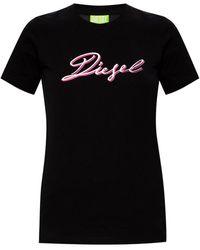 DIESEL T-shirt With Logo Black