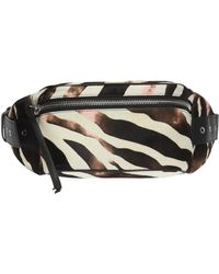 AllSaints - 'captain' Zebra-printed Belt Bag - Lyst