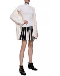 Michael Kors Short Sleeve Turtleneck Sweater White