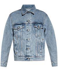 Rag & Bone Oversized Denim Jacket Oversized Fit Jacket - Blue