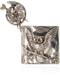 Alexander McQueen Charm With Writing Pad Silver - Metallic