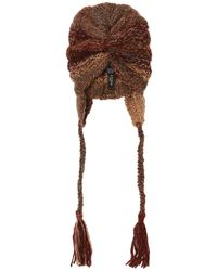Etro Woven Hat With Fringes - Brown