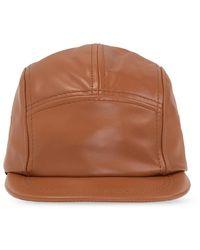 Loewe Leather Baseball Cap - Brown