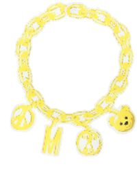 Moschino Chain Necklace - Yellow
