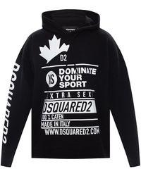 DSquared² Branded Hoodie - Black