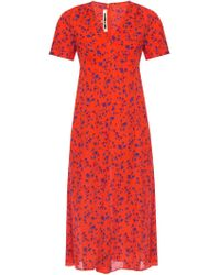 McQ Patterned Dress - Red