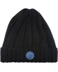 fd498270a04 Lyst - Moncler Braided Turn-up Beanie in Blue for Men