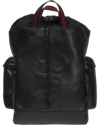 Gucci - Snake Leather Backpack - Lyst