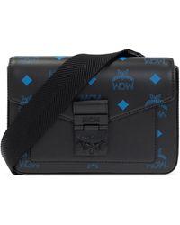 MCM Shoulder Bag With Logo - Black