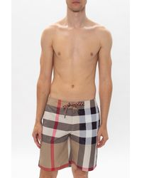 Burberry Checked Swim Shorts - Multicolour