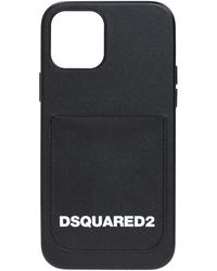 DSquared² Iphone 11 Pro Case With Logo Unisex - Black