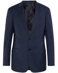 Giorgio Armani Checked Suit - Blue