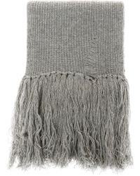 Lanvin - Braided Scarf With Fringes - Lyst