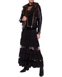 AllSaints 'elia' Shearling Biker Jacket Black
