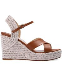 Jimmy Choo 'dellena' Wedge Sandals Brown