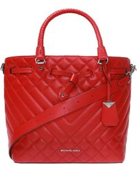 Michael Kors 'blakely' Quilted Shoulder Bag - Red