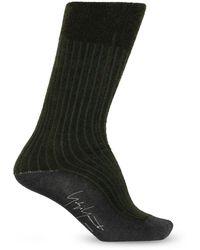 Yohji Yamamoto Socks With Logo - Black