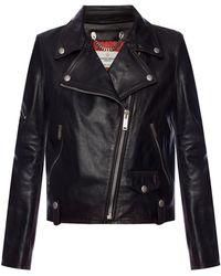 Golden Goose Deluxe Brand - Leather Biker Jacket - Lyst