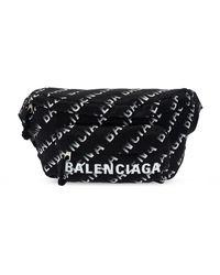 Balenciaga Branded Belt Bag - Black