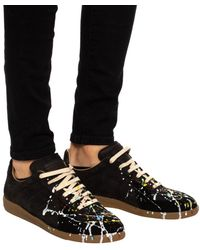 Maison Margiela Paint Drop Replica Sneakers - Black
