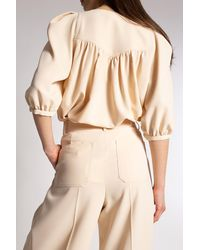 See By Chloé Short-sleeved Top Cream - Natural