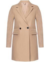 AllSaints 'dree' Coat With Notched Lapels Beige - Natural