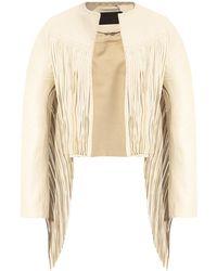 AllSaints 'astral' Tasselled Jacket - Natural