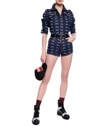 DSquared² Denim Shorts With Logo Navy Blue